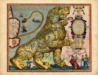 Europe 1617 Leo Belgicus